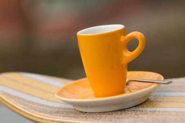 Espressetasse Walküre gelb Einfach nur Kaffee